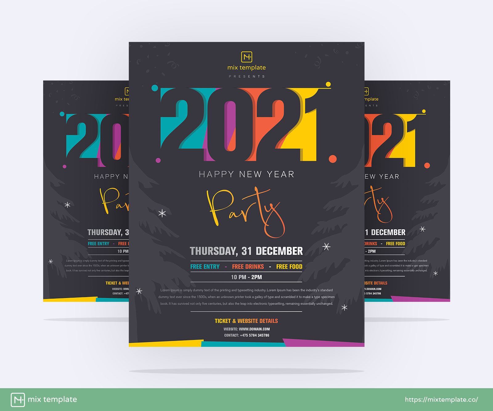 Free-Creative-Happy-New-Year-2021-Party-Flyer-Template