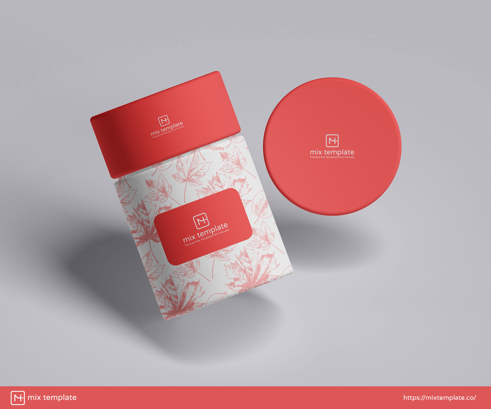 Free-Round-Packaging-Paper-Tube-Box-Mockup-Template