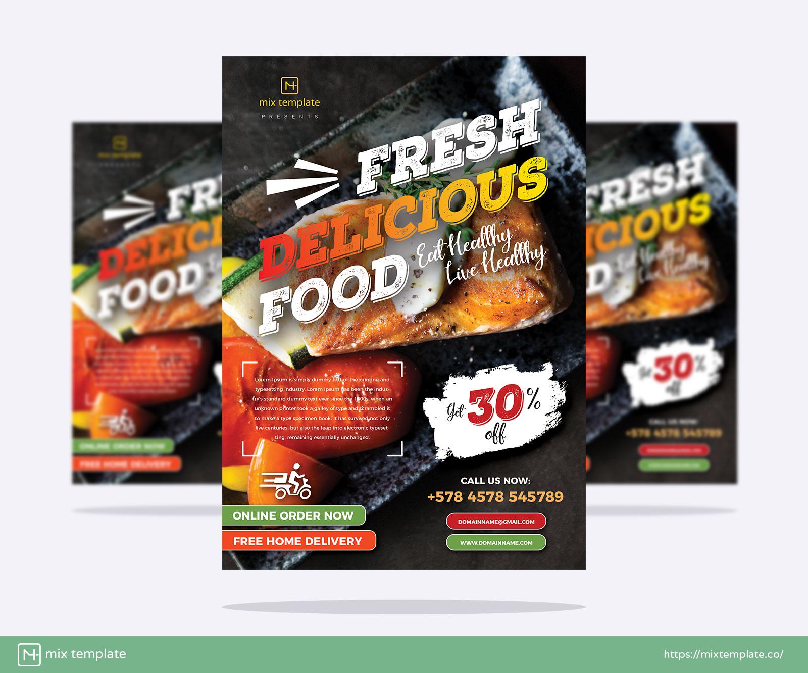 Free-Restaurant-Food-Flyer-Design-Template-of-2021