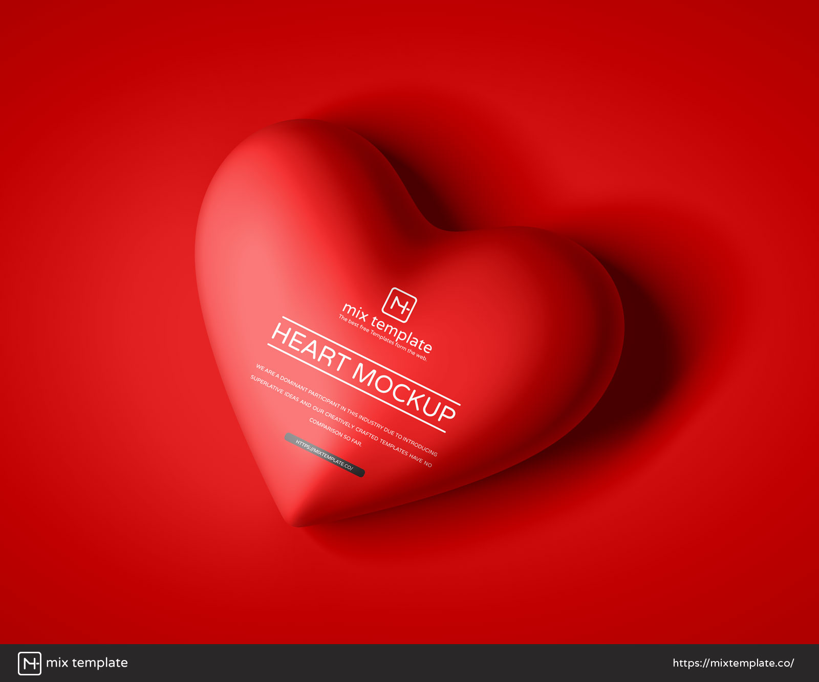 Free-Top-View-Heart-Mockup-Template