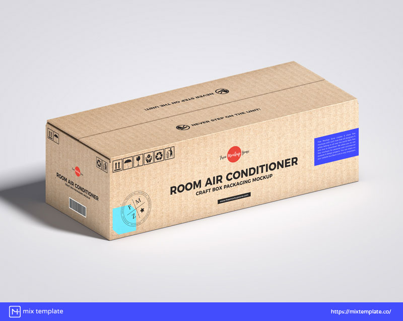 Free-Air-Conditioner-Craft-Box-Packaging-Mockup-Template