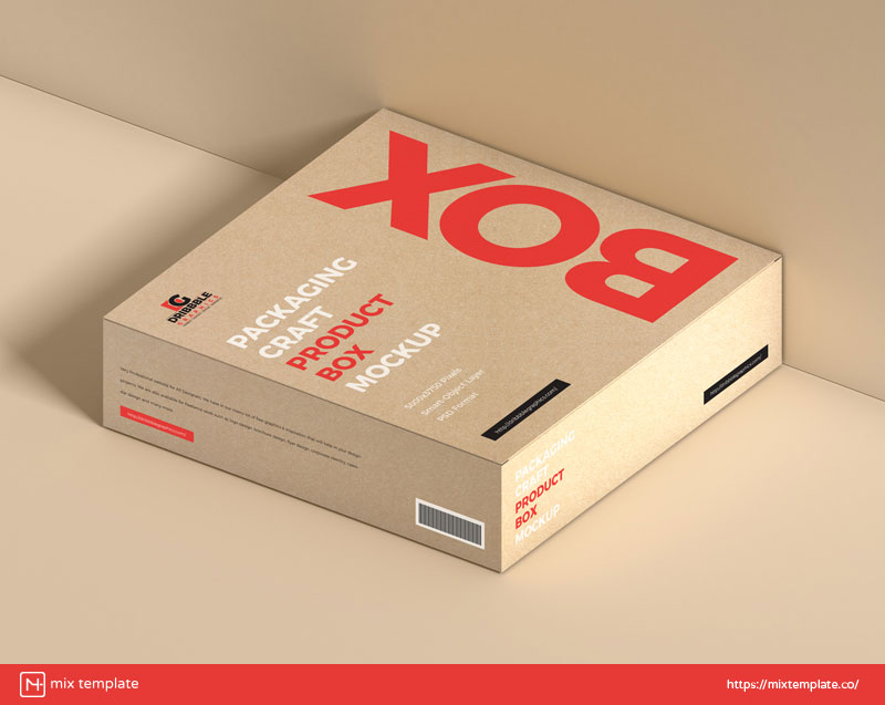 Free-Craft-Product-Box-Mockup-Template