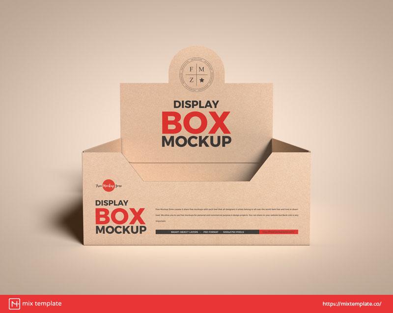 Free-Kraft-Display-Box-Mockup-Template