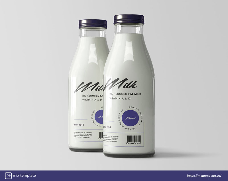 Free-Milk-Bottles-Mockup-Template