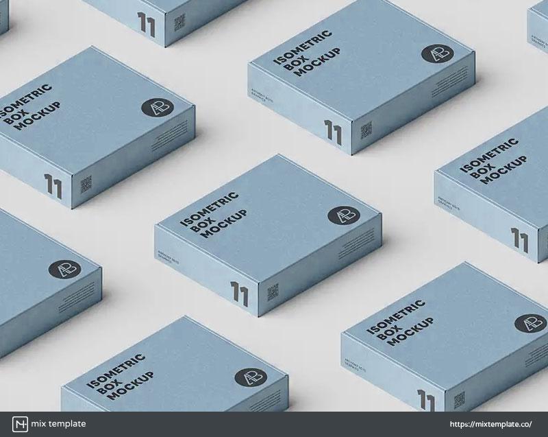 Free-Packaging-Box-Grid-Mockup-Template