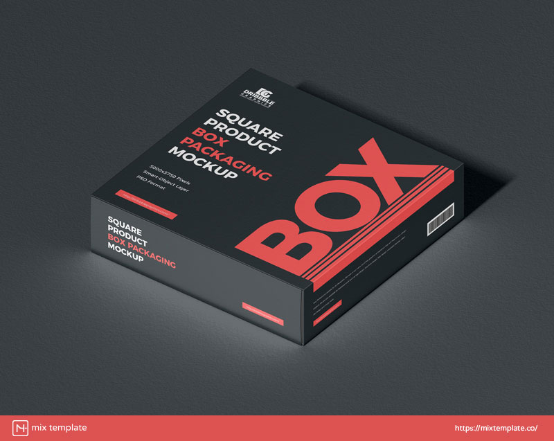 Free-Product-Box-Mockup-Template