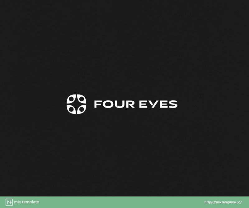 Four-Eyes-Telephone-And-Equipment-Logo-Design