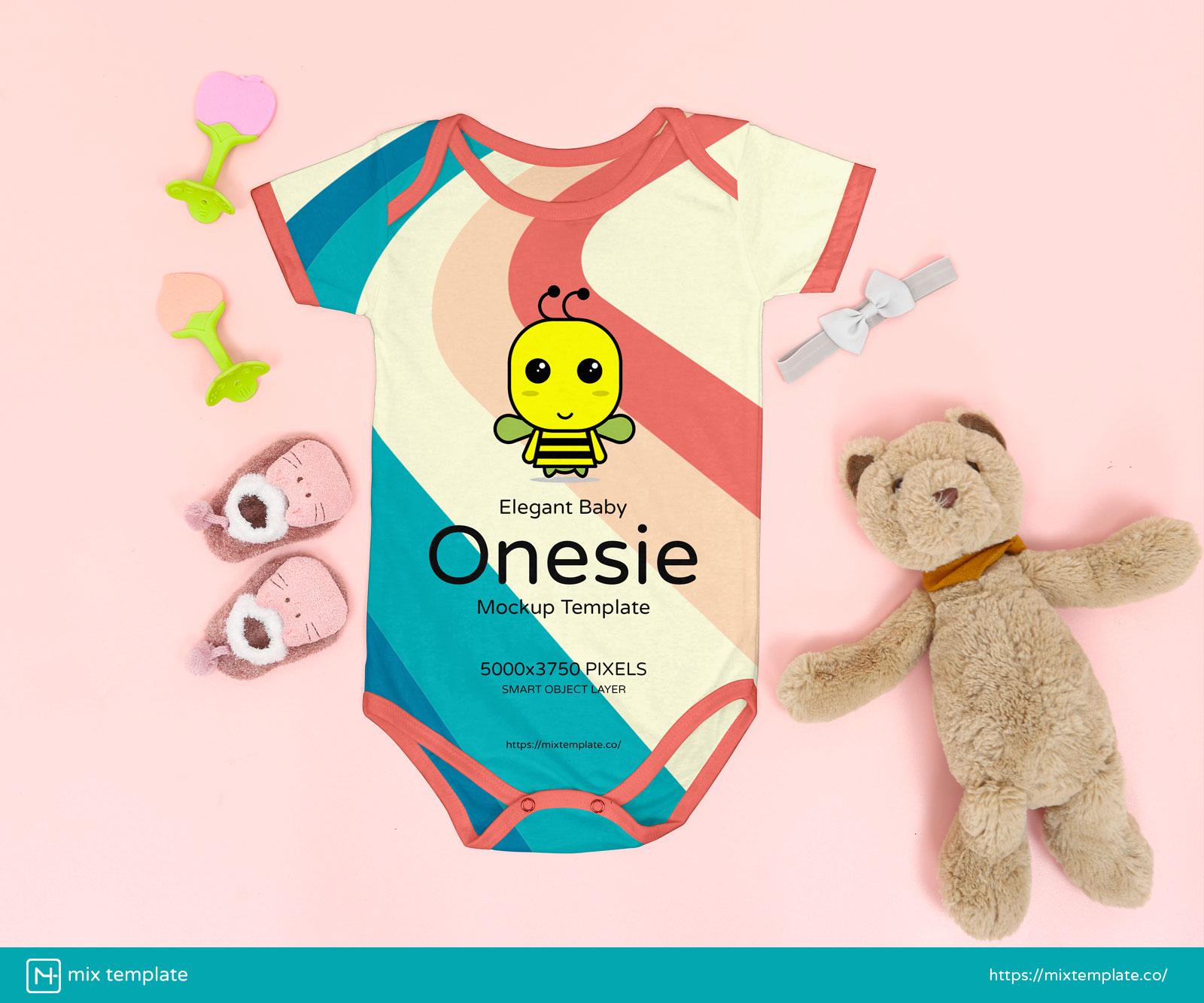 Free-Elegant-Baby-Onesie-Mockup-Template-38