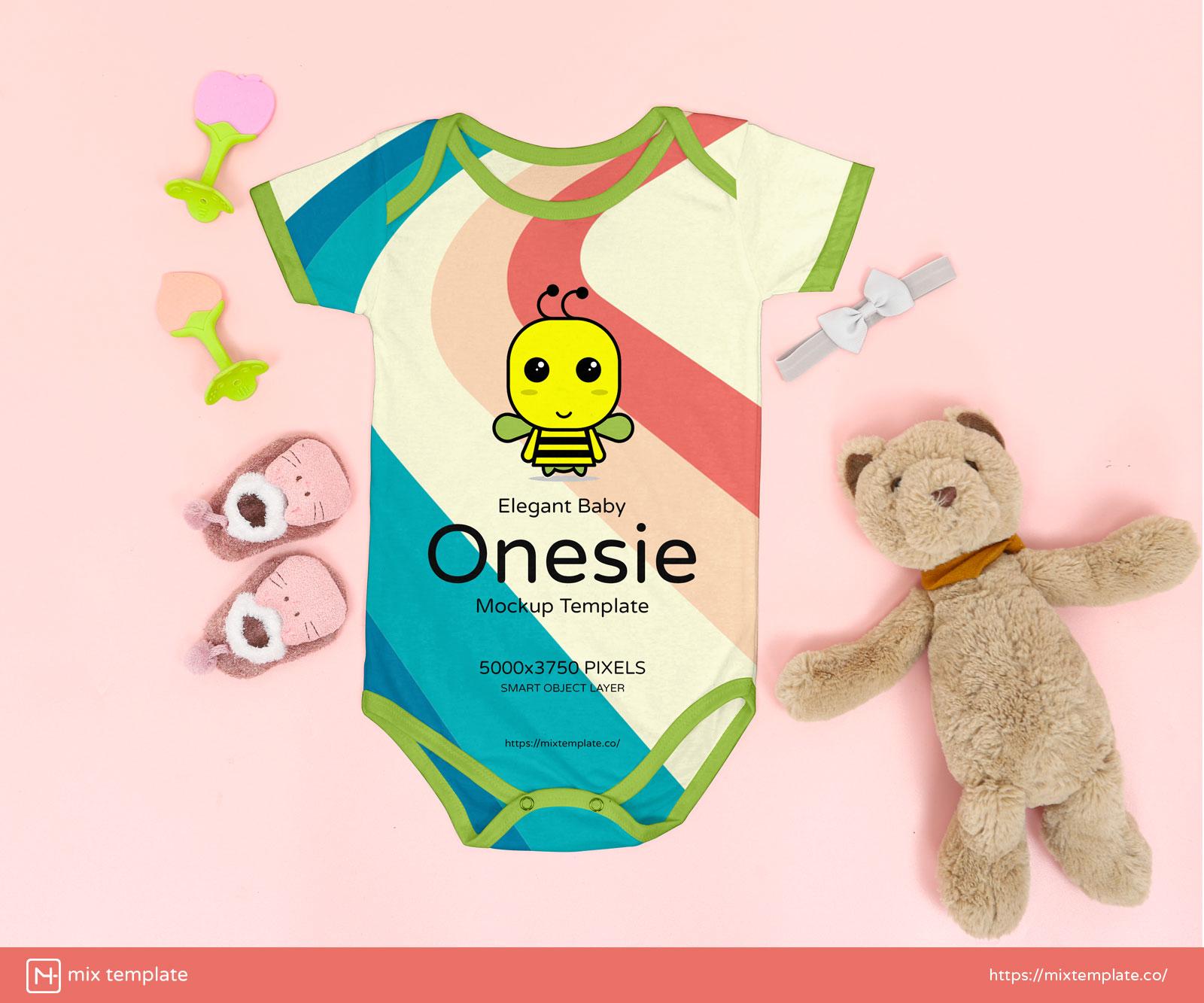 Free-Elegant-Baby-Onesie-Mockup-Template