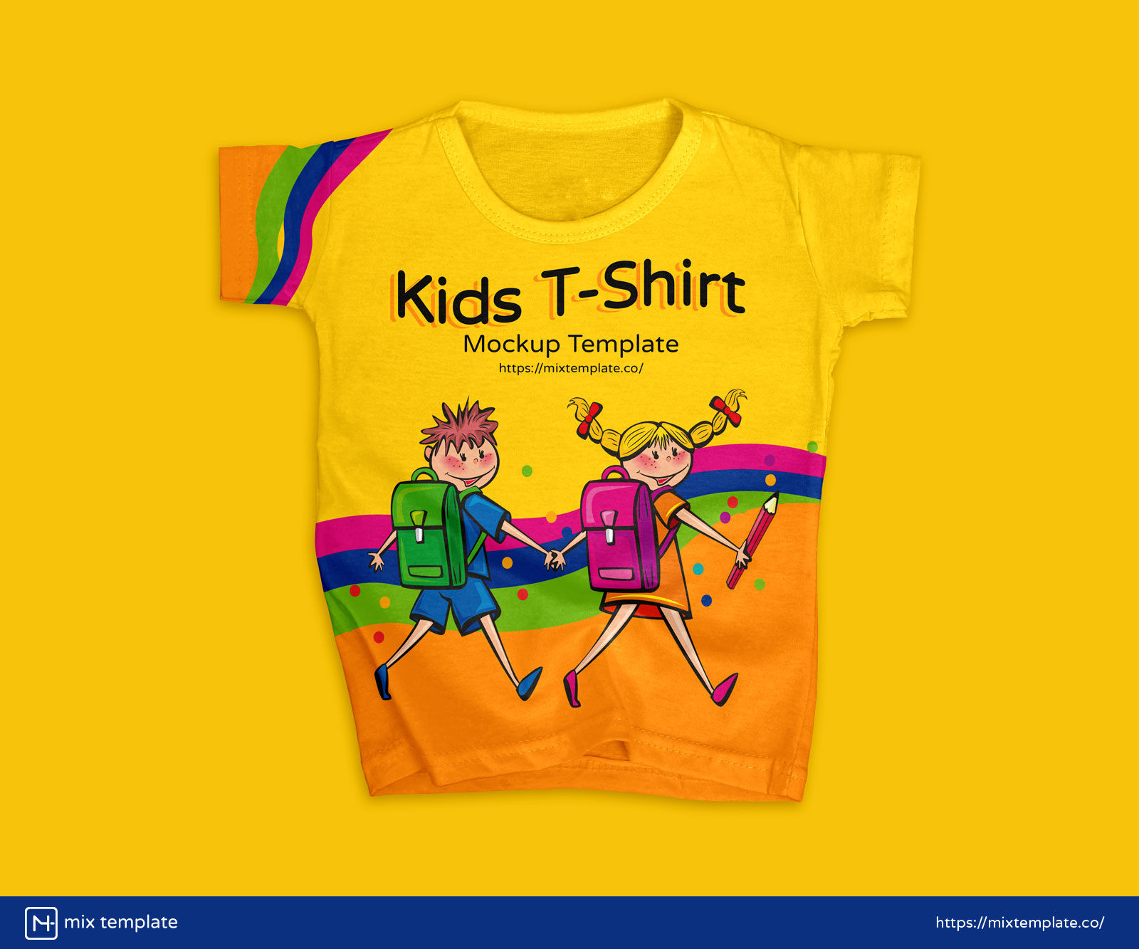 Free-Modern-Kids-T-Shirt-Mockup-Template-38